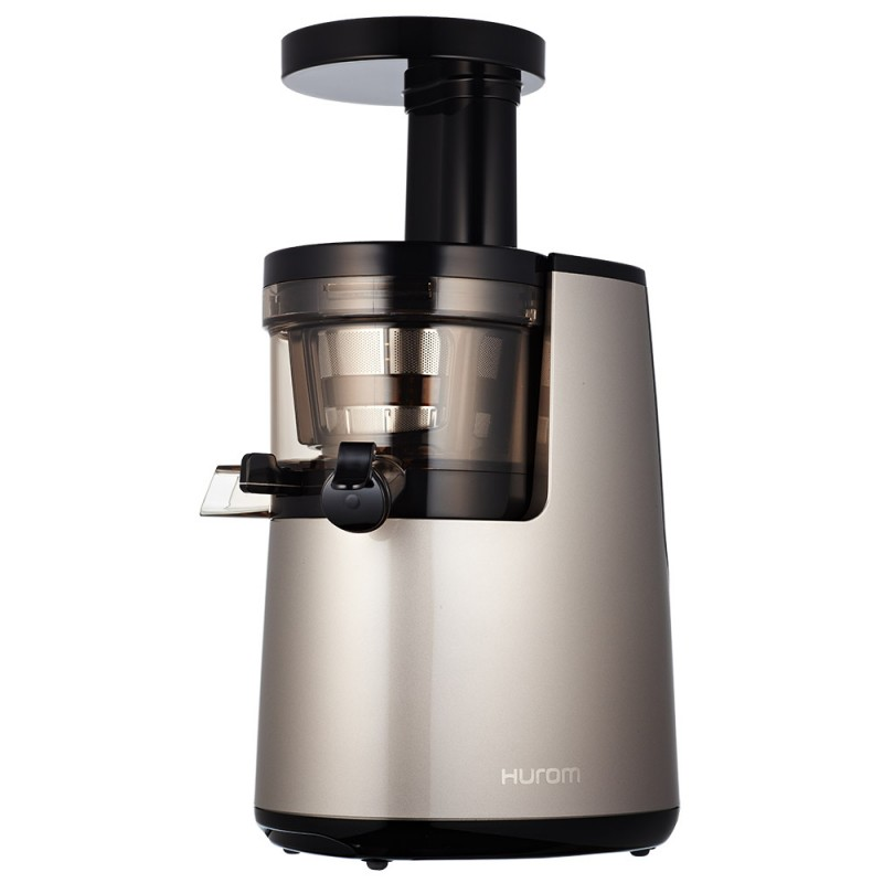 HUROM HH 2G typ L (s páčkou) - 2. gen - stříbrná - šnekový odšťavňovač - rozbalený na výstavku, nepoužitý