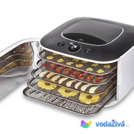 Yden CI IR D5 - infračervená sušička potravin s čidlem vlhkosti, 5 nerez sít, digitální časovač