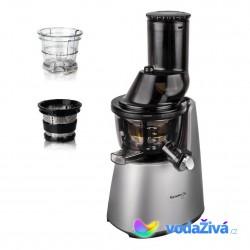 Kuvings C9500S Exclusive - stříbrný šnekový odšťavňovač (C7000) + sítka na smoothies a zmrzlinu