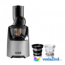 Kuvings EVO 820 DS Exclusive - tmavě stříbrný šnekový odšťavňovač + sítka na smoothies a zmrzlinu