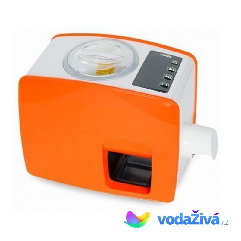 Lis Yoda - oranžová barva - domácí lis na výrobu oleje - panenský olej za studena - 2. generac