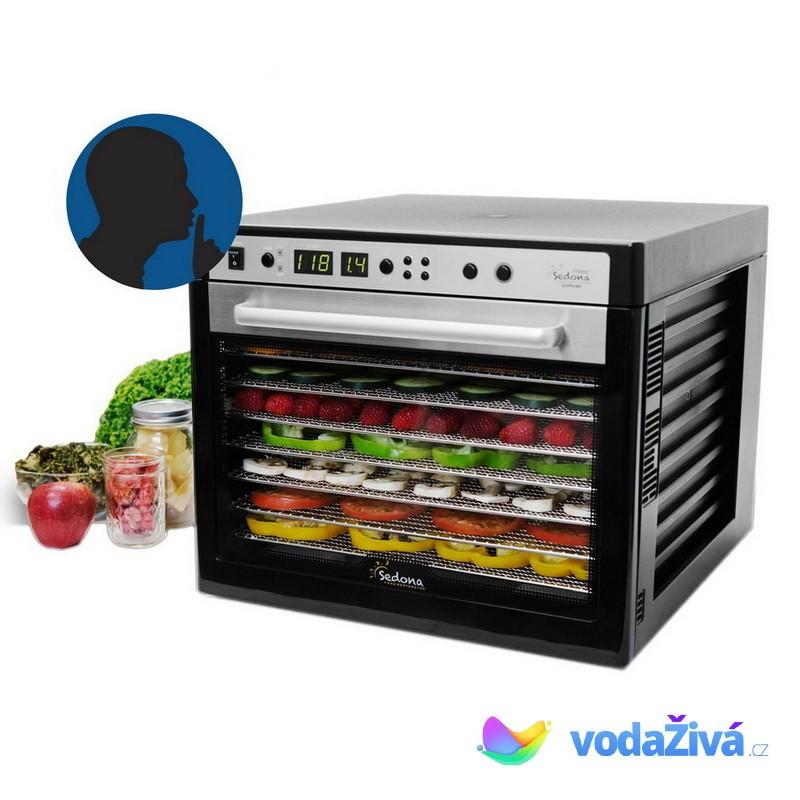 Sedona Supreme SDC-S101 - sušička potravin, 9 nerez sít, digitální časovač + eBook Zdraví a sušené plody (490Kč) + doprava ZDARMA Sedona 0093757114298