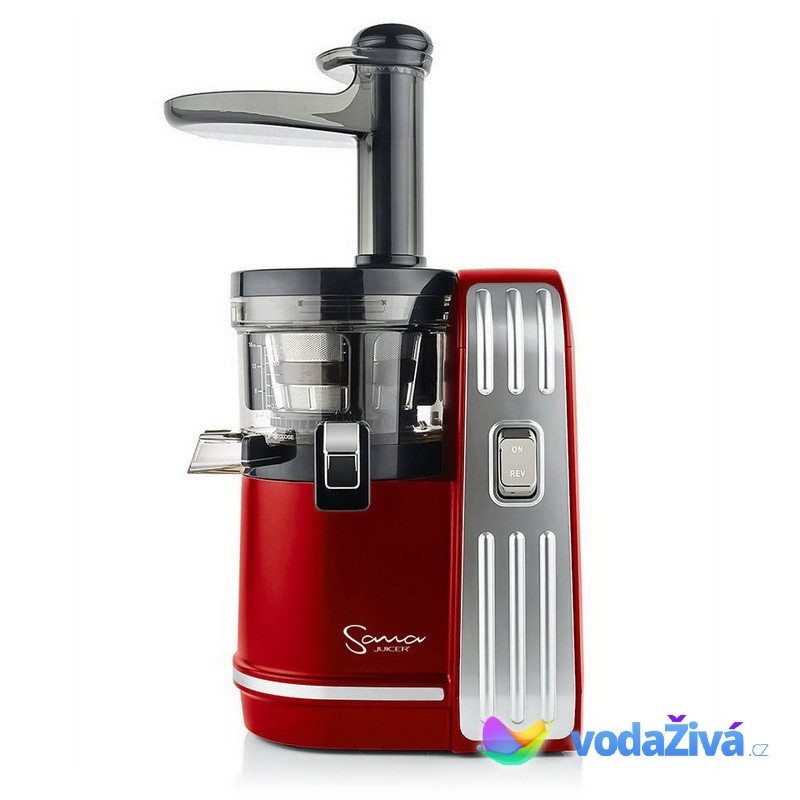 Sana Juicer EUJ-828 červená - Luxusní šnekový odšťavňovač + CD Relax (259Kč) + 2x eBook o šťávách (900Kč) + dárek dle výběru + Doprava ZDARMA Sana Juicer (Jižní Korea) 8594179161409