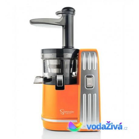 Sana Juicer EUJ-828 - žluto-oranžová matná barva - Luxusní šnekový odšťavňovač
