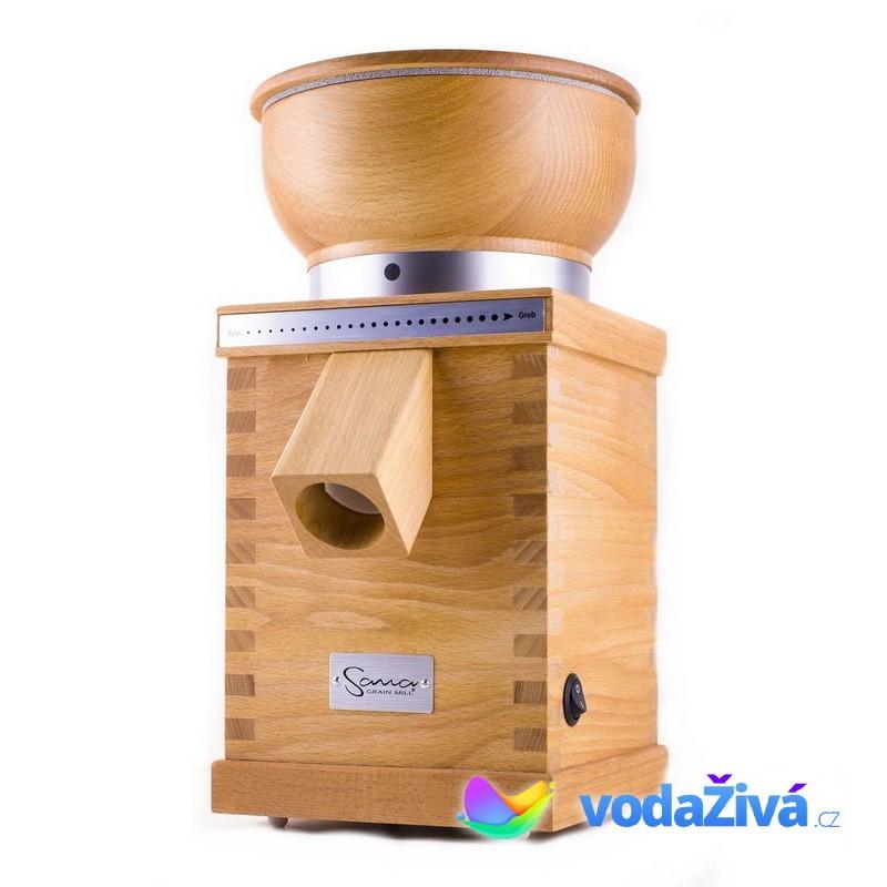 Sana - elektrický mlýnek na obilí, motor 360W + eBook Čerstvě namletá mouka (490Kč), + CD Relax (259