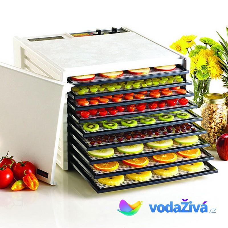 Excalibur 4926T - sušička potravin, 9 plastových sít, analogový časovač, bílá + eBook Zdraví a sušen