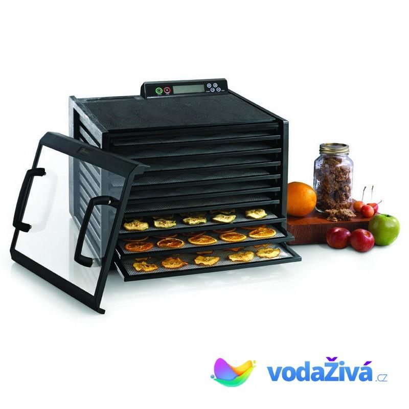 Excalibur 4948 CDFB - sušička potravin, 9 plastových sít, digitální časovač, barva černá + eBook Zdr