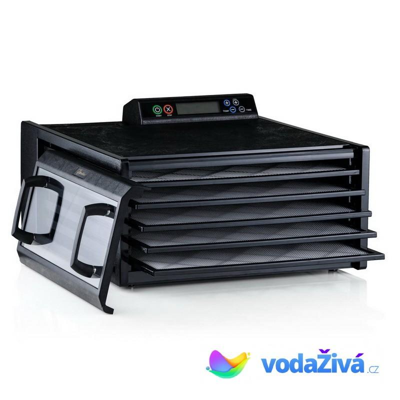 Excalibur 4548 CDFB - sušička potravin, 5 plastových sít, digitální časovač, barva černá + eBook Zdr