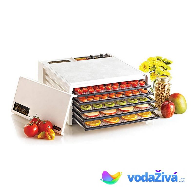 Excalibur 4526T - sušička potravin, 5 plastových sít, analogový časovač, bílá + eBook Zdraví a sušen