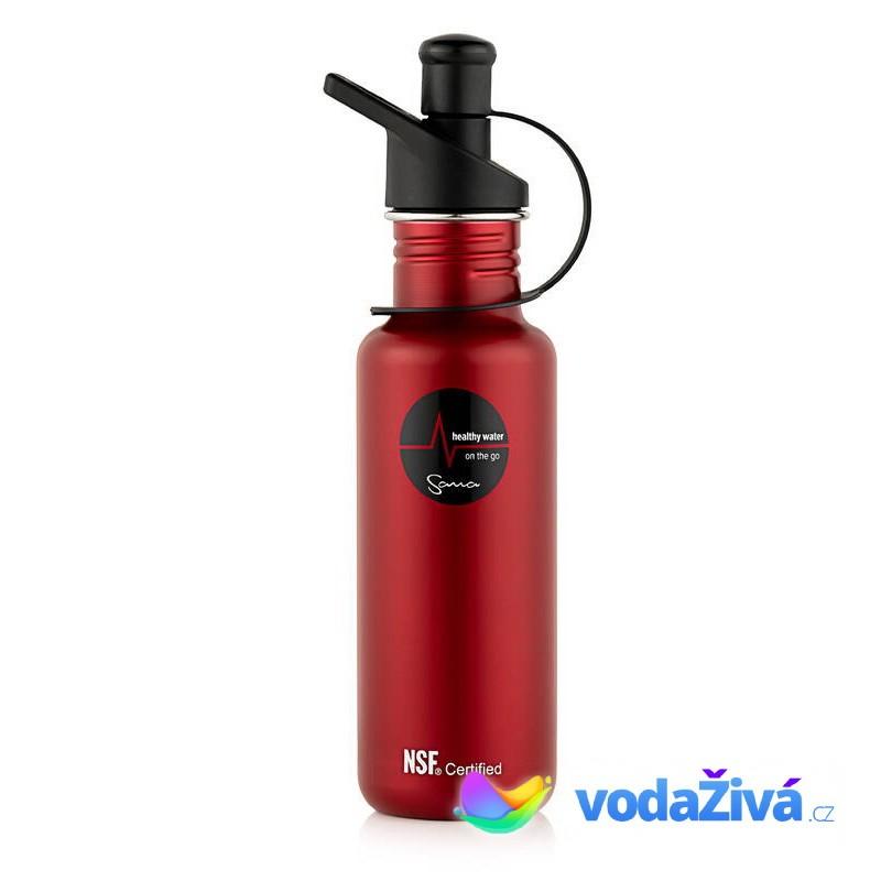 Filtrační láhev Sana 600 ml - barva červená - ORIGINÁL Sana