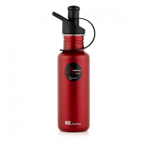 Filtrační láhev Sana 600 ml - barva červená