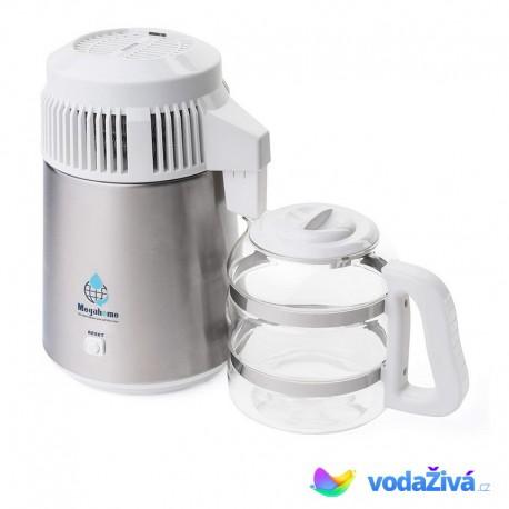 AQUA Destiller 2 - barva chrom v kombinaci s bílou - destilační přístroj