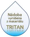 Nádoba je vyrobena z TRITANU, velmi lehká a odolná vůči nárazu
